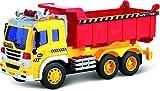 Push und Go Autos (Spielzeug für Kleinkinder) – Reibungsbetriebener Spielzeug-Kipper mit Lichtern und Sound TG640-D – Reibungsbetriebener Spielzeug-Lkw von ThinkGizmos (geschützte Marke)