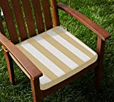 Lushomes Beige Square Striped Chairpad w...