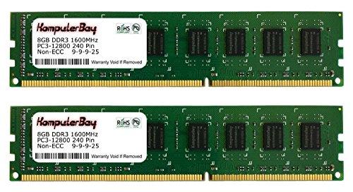Komputerbay 16GB (2x 8GB), 240PIN 1600MHz PC3-12800DDR3DIMM RAM desktop memoria
