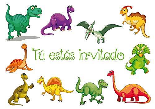 """Edition Colibri 10 Invitaciones en español """"Dinosaurio"""": Juego de 10 ..."""