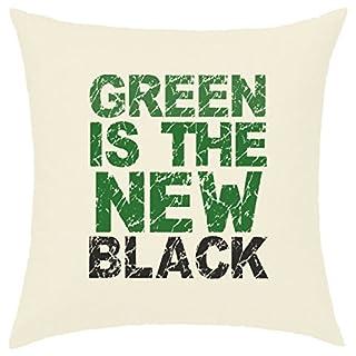 Kissenhülle, 40x 40cm bedruckt, 100% Baumwolle–Green Is The New Black