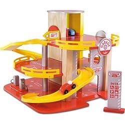 Vilac 2327 Garage Racing 2010 - Garaje y coches de juguete (madera)
