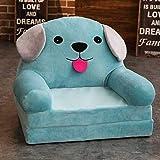 WJH Kinder Sofa,Kinder gepolsterte Couch,Folding Flip-Open Chaise Mini Single Sofa Stuhl Schöne Faul Für Schlafzimmer Kindergarten-F 50x40x47cm(20x16x19inch)