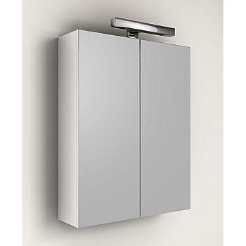 Specchio contenitore da bagno con anta scorrevole in acciaio 46x66x12 cm fai da te - Specchiera bagno amazon ...