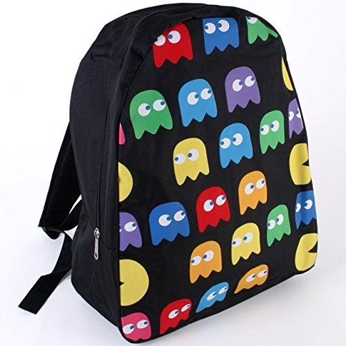 boys-black-retro-pacman-ghost-backpack-rucksack-school-bag-travel-video-game-new