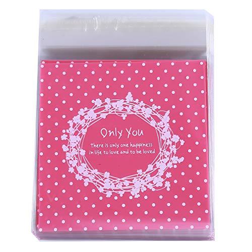 (Pinhan Selbstklebende Plätzchen-Süßigkeitspaket-Tasche nur Sie, die Plastik-versiegelte Cellophan-Geschenktaschen backen)