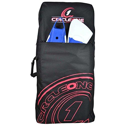 Soles Up Front SUF Tasche für Bodyboard, gepolstert, für 2 Bodyboards mit 84 / 107 cm. Große Taschen. Rucksack mit Schulter- oder Tragegurt. rot rot