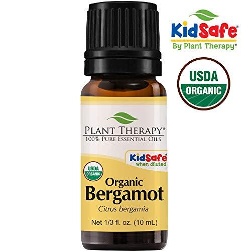 Bergamote Huile essentielle bio. 10 ml (3,3 oz). 100% pur, non dilué.