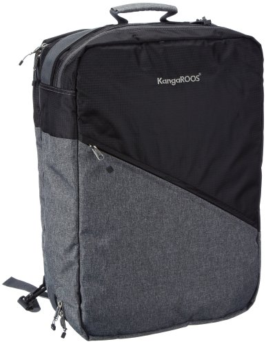 KangaROOS  HEALY Travel Bag,  Borsa a spalla unisex adulto, Nero (Schwarz (black 500)), 35x50x20 cm (B x H x T)