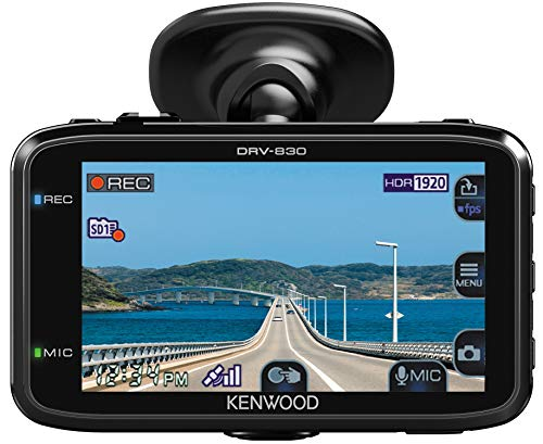 Kenwood DRV-830 Wide - Videocamera quad-HD con GPS e assistenza, 3,7 MP, colore: Nero