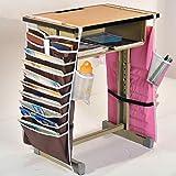 LWVAX Fabric Desk Book Organizer Bag, Multicolour