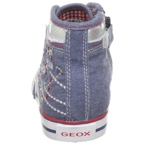 Geox , Chaussures de Running Entrainement fille Denim Jeans/Red