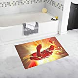 vrupi ferro rosso uomo eroe personaggi modello nuovo design pad bagno tappeto to flash slittamento pavimento del bagno tappeto per bambini Cartone animato Anime per casa Tappeto per porte 40 * 60cm
