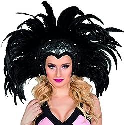 Boland 00375 - Copricapo Piumato Showgirl, Nero