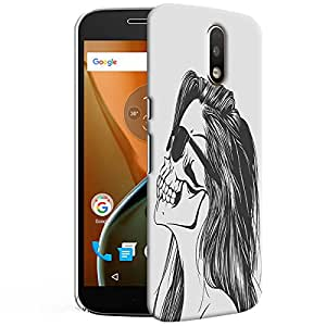 Theskinmantra Skull Beauty Back cover for Moto G4