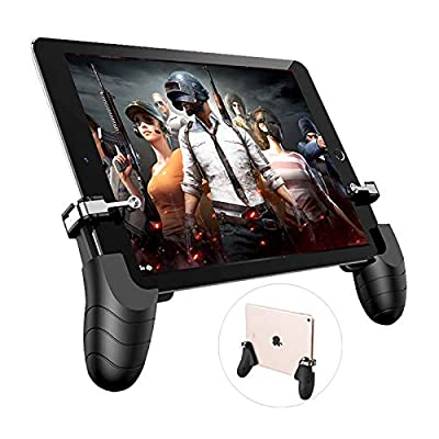 Ocamo Professional Tablet Game Trigger Fire Button Aim Key & Gamepad L1R1 Controller Universal for Android IPad Game Grip Handle
