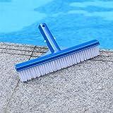 Wokee Poolbürste 25x4,7 cm Beckenbürste Bodenbürste Schwimmbecken-Reinigungsbürste-Wand-Handbürsten-Reinigungs-Werkzeug für Poolwand und Poolboden Geeignet