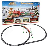 Juguete Educativo del Tren, Estilo de Navidad Juguete de Via de Tren Electrico Puzzle Model DIY Kid Toy