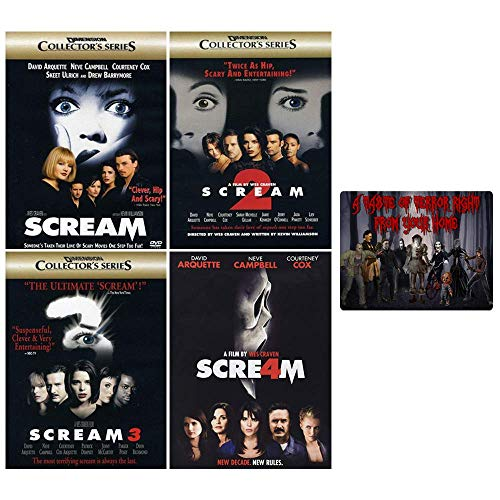 Scream: Complete Horror Movie Series - Films 1-4 + Bonus Art Card