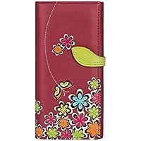 Portafoglio piatto femmina fiore e farfalla interior Menkai borsa con