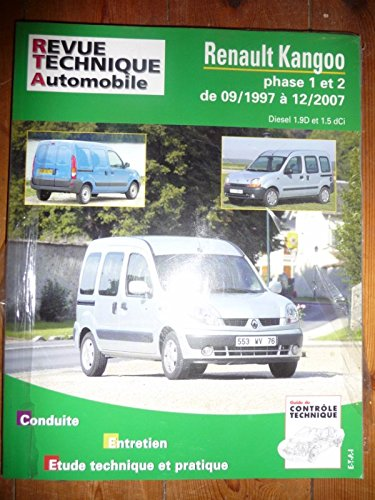 RRTA0101.1 - REVUE TECHNIQUE AUTOMOBILE RENAULT KANGOO Phases I et II de 09/1997 à 12/2007 Diesel 1.9l D et 1.5l dCi
