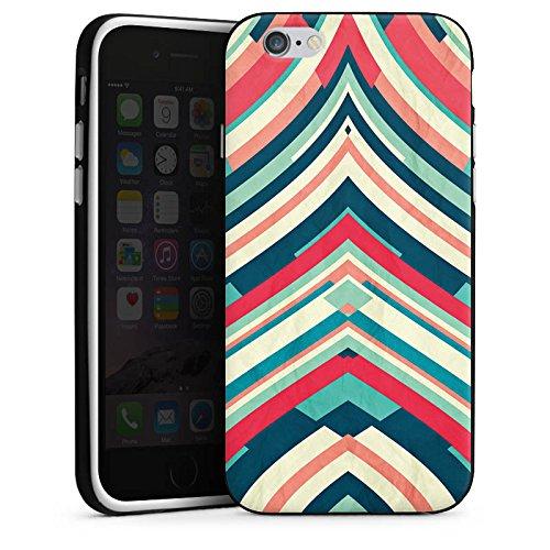 Apple iPhone 4 Housse Étui Silicone Coque Protection Bandes Motif Motif Housse en silicone noir / blanc