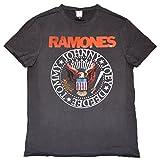 Amplified Shirt Ramones Logo Vintage Seal Unisex, M, charoal