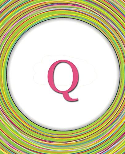 Circles Monogram Notebook Q