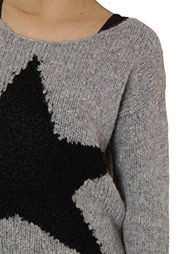 KEY Largo Damen Pullover Dance Grey Melange Grau