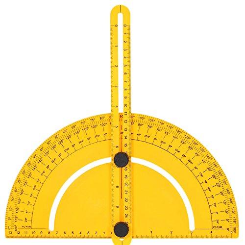 Tutoy Protrateur en Plastique Angle Finder Mesure Règle Goniomètre Articulating Arms Template Tool for Handymen Builders Craftsmen inch Metric