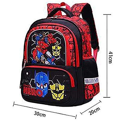 51DaKd6yVXL. SS416  - Mochila Para Niños Escuela Primaria Escuela Impermeable Y Resistente Al Desgaste Mochila Transformers
