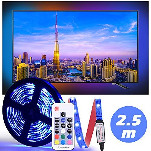 LED Tira De TV, Diyife 2.5M 75 Leds Multicolor RetroiluminacióN