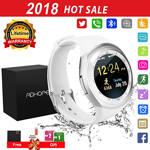 Touchscreen Wasserdicht Smart Uhr Sport Fitness Smart Watch mit Whatsapp Handy Uhr Bluetooth Uhr Intelligente Armbanduhr Kompatibel IOS Iphone Andriod Herren Damen Kinder (Smart Watch Kinder)