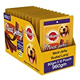 #9: Pedigree Dog Treats Meat Jerky Stix, Lamb, 80 g (Pack of 12)