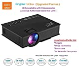 #2: UNIC UC46+ (Upgraded Version ) with USB/HDMI/VGA/WIFI Miracast DLNA Airplay 1200 lm LED Corded Portable Projector (Black)