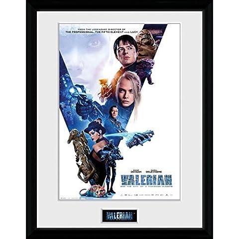 GB eye Valerian Compilation 1 Sheet Framed Print, Multi-Colour, 30 x 40 cm