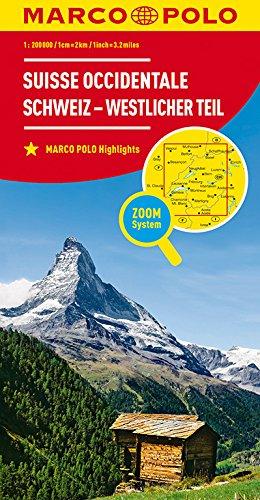 MARCO POLO Regionalkarte Schweiz Blatt 1 Schweiz - westlicher Teil 1:200 000 (MARCO POLO Karten 1:200.000)