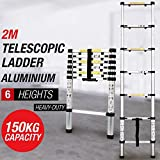 House of Sensation Portable 150kg load-bearing capacity Telescopic Ladder 2 M Thickening Aluminum Alloy Multipurpose Folding Stairs