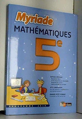 mathematiques 5eme- collection myriade