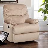HomeTown Daniel Fabric Single Seater Recliner in Beige Colour