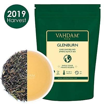 VAHDAM, Thé Noir Glenburn King Darjeeling Pour La Première Fois 2019 | 25 tasses, 1,76 oz | Pur 100% de thé noir Darjeeling non mélangé, feuilles mobiles | Thé unique immobilier