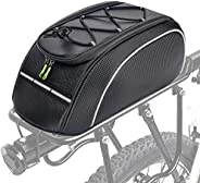 Bike Rack Bag Reflective Rack Bag, Water Resistant Bicycle Rear Seat Pannier Cargo Trunk Storage Cycling Carri