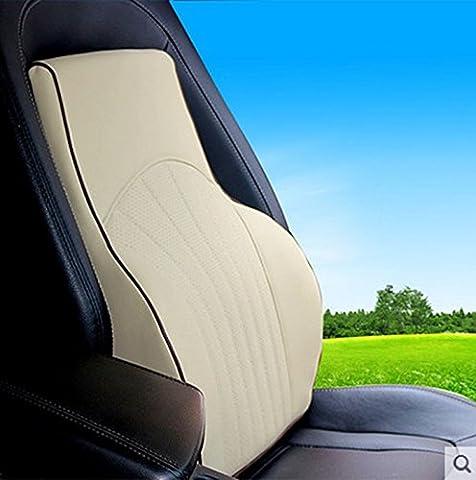 HUANLIN Car Waist Back Leather Memory Cotton Waist Back Pad