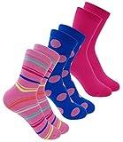 EveryKid Ewers 3er Pack Mädchensocken Sparpack Markensocken Sommersocken Socken Strümpfe Söckchen Kleinkind für Kinder (EW-201082-S18-MA2-003-31/34) in Phlox, Größe 31/34 inkl Fashionguide