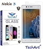 Nokia 3 Premium 2.5D Ultra Thin UNBREAKABLE FLEXIBLE Tempered Glass Screen Protector Designed by TechArt®