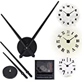 Alicemall Mouvement Mécanisme Horloge à Quartz 2 Aiguille pour Pendule Murale Noir