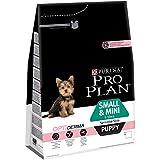 Pro Plan Dog Small und Mini Puppy Hund, Sensitive Skin Lachs und mit Reis, Trockenfutter, 1er Pack (1 x 3 kg) Beutel
