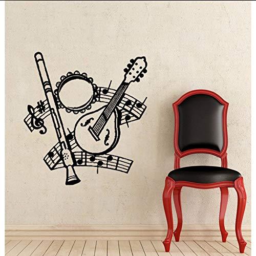 (Fushoulu 43X43 CmArten Von Musikinstrumente Wandtattoos Musical Notes Home Kinder Kindergarten Schlafzimmer Kunst Mode Decor Wandbilder Aufkleber)