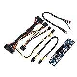 Richer-R Modulo di Alimentazione, ASHATA Alimentatore per PC Ingresso DC12V 300 W, Modulo di Alimentazione Breadboard con Cavo AUX/SATA a 24 Pin, Adatto per Alloggiamento Mini ITX e 1U
