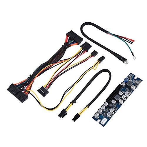 ilmodul für Mini-ITX- und 1-U-Gehäuse-PC-Netzteil, DC-12-V-Eingang, 300W-Computer-Netzteilmodul mit 24-Pin-Anschluss/AUX/SATA-Kabel ()